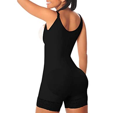 5140fd679e10c Zip Girdle Bodysuit Fajas Full Body Shaper Weight Loss Slimming Body Waist  Shaper Tummy Trimmer Underwear Butt Lifter Firm at Amazon Women s Clothing  store