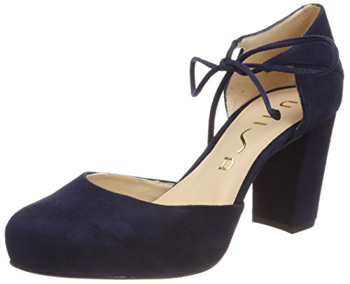 Unisa Women's Nadan_ks Ankle Strap Heels Blue (Ocean Tuscany) outlet store Locations cheap sale countdown package clearance amazon outlet shop cheap sale good selling lvTmJg