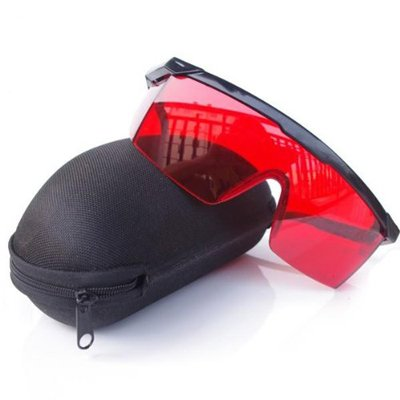 QQ-Tech® Goggles Laser Eye Protection Safety Glasses Goggle Glass Shield with Case for Green Blue Laser Pointer