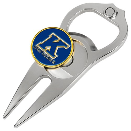 Hat Trick Openers 5-in-1 Divot Tool, Kent State Golden (Kent State Flashes Golf Ball)