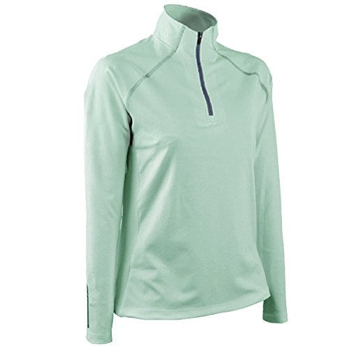 Sun Mountain 2017 Women's Second Layer Pullover (Ice Green-Navy, Small)