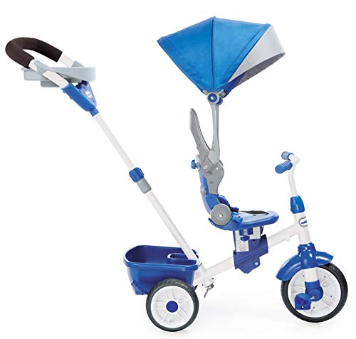 (Little Tikes Perfect Fit 4-in-1 Trike Ride On, Blue (Renewed))