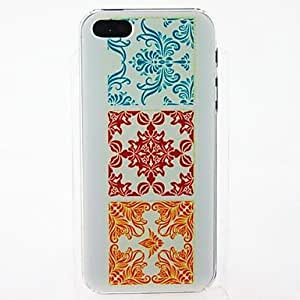 SUMCOM Square Flowers Pattern Hard PC Case for iPhone 4/4S