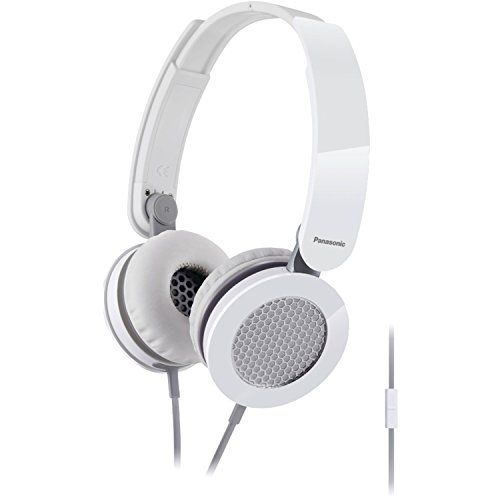 - Panasonic RP-HXS200M-W Sound Rush On-Ear Headphones, White/Gray