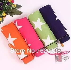 Carga casebomb flashsellerz artículos apartamentito 5 paraguas plegable personalidad ikase superior corto paraguas lluvia paraguas de Color caramelo mujeres