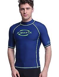 Dive & Sail Rash Guard in Mens UV Sunblock Fast Dry Top Shirt for water sports
