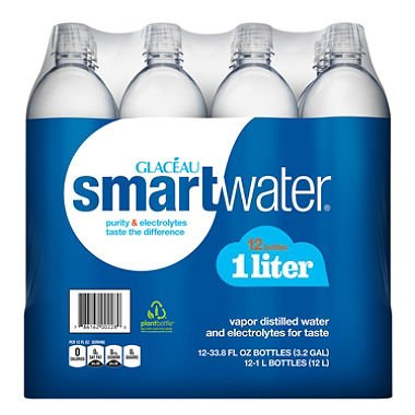 Glaceau SmartWater Water (1 L bottles, 12 pk.) (pack of 2) by vitaminwater