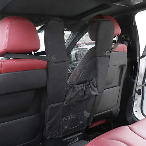 UEETEK Pet Car Barrier Waterproof Safety Net Dog Backseat Barriers Scratch Resistant Seat Mesh Obstacle - Black ()