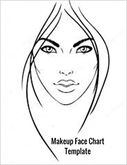 Makeup face chart template female faces large notebook ayens m makeup face chart template female faces large notebook ayens m 9781985365780 amazon books maxwellsz