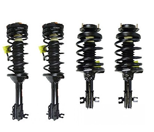 Ford Mercury Tracer - DTA 70074 Full Set 4 Complete Strut Assemblies With Springs and Mounts Ready to Install OE Replacement 4-pc Set, (NON-ABS) 1997-2003 Ford Escort, 1997-1999 Mercury Tracer