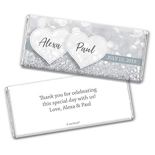 Wedding Favors Personalized Wrappers for Hershey's Chocolate Bars (25 Count)