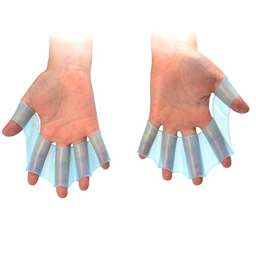 Swimming Paddle Silicone Hand Swimming Training Web Glove M - 6