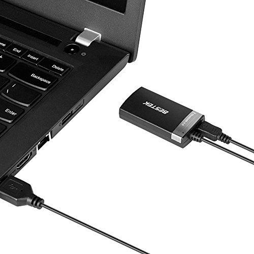 BESTEK Bluetooth Adapter tragbare Wireless Bluetooth 4.0 Transmitter Sender mit 3,5 mm Klinke Stereo Kabel f/ür MP3 MP4 PC Laptop schwarz /…