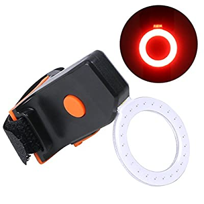Bike Taillight, OUTERDO Rear Bike Light USB Rechargeable 70 Lumen LED Bicycle Red Taillight with Different Shapes 5 Modes Super Bright 300mAh Fits on any Road Bikes, Helmets, Cycling Safety Flashlight