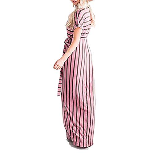 TTSKIRT A Mujer Vaina Geométrico Rayas XXL Vestido Blushingpink Maxi Básico r16rw4