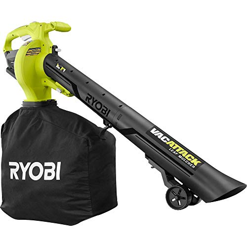 RYOBI 40-Volt VacAttack Lithium-Ion Cordless Leaf Vacuum Mulcher with Metal Impeller,Variable Speed Dial, and Heavy Duty Bag (Battery and Charger Not Included)