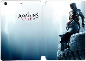 Cubierta de cuero y caja de la PC funda / soporte para funda de Apple iPad Mini 4 funda Con Magnetic reposo automático Función de despertador DIY por Assassin'S Creed Z2G6Va4U8Iv