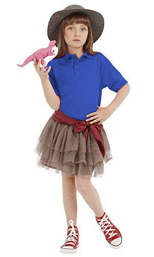 Youths Polo Shirts Plain Button Short Sleeves Knit Boys Girls (6, Royal Blue