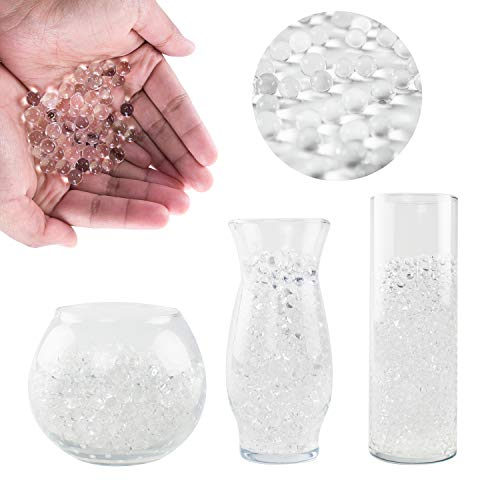 (Super Z Outlet Clear Water Gel Beads Pearls for Vase Filler, Candles, Wedding Centerpiece, Home Decoration, Plants, Toys, Education, Makes 10,000 Water Beads)
