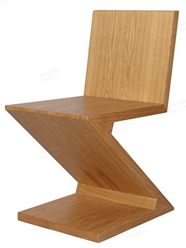 Gerrit Thomas Rietveld Chair, MDF with Ash Wood Skin. (Natural)