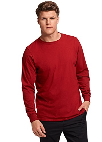 Russell Athletic Men's Essential Long Sleeve Tee, Cardinal, S