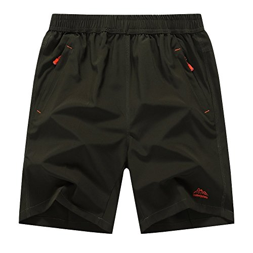 Donhobo Men's Outdoor Quick Dry Lightweight Sports Shorts Zipper Pockets