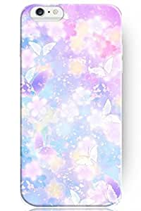 ZLXUSA(TM) New Beautiful Clear Design Personalized Hard Purple Pink Butterfly for Iphone 6 (4.7 Inches) Case
