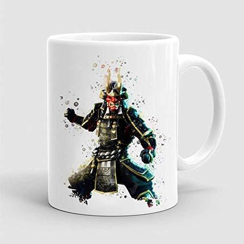 Awesome Coffee Mug Shogun Outfit Mug Game Skin Watercolor Gamer Geek Mug with Sayings Funny Mug Tea Cocoa Coffee Cup 11OZ