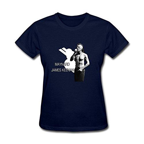 (MINNRI Women's Maynard James Keenan T-shirt Royal Blue XL)