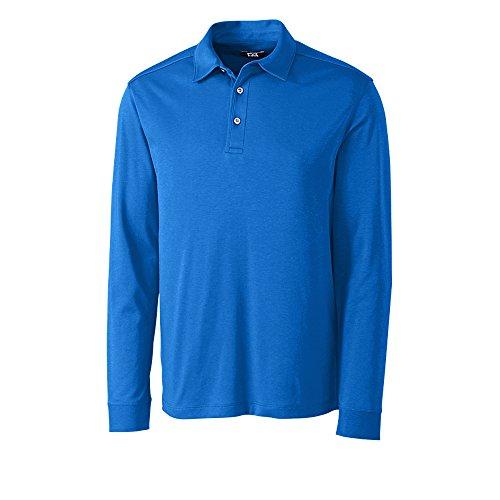 Cutter and Buck Long Sleeve Pima Belfair Golf Polo 2017 Tidal Large ()