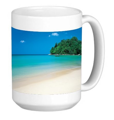 Elite Printing Tropical Paradise 15 Ounce Ceramic Coffee Mug Tea Cup