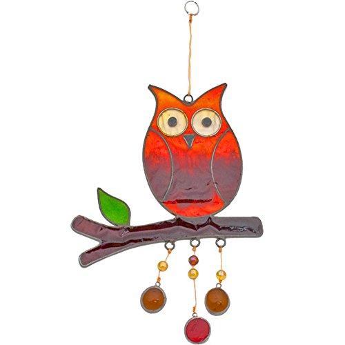 Hanging Owl (Hanging Owl Sun Catcher Resin Garden Decor Ornament)