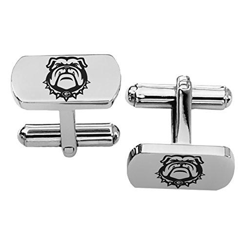 University of Georgia Bulldogs Rectangular Shape Stainless Steel Cufflinks