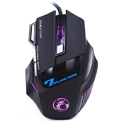 Oyedens New Professional Colorful Backlight 3200DPI LED Optical 7D USB Wired Gaming Game Mouse For PC Laptop Game