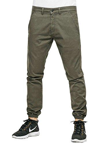 Pantalone Reell Jeans Uomo Oliva Jogger Pantaloni Ginnico qftPfxz0