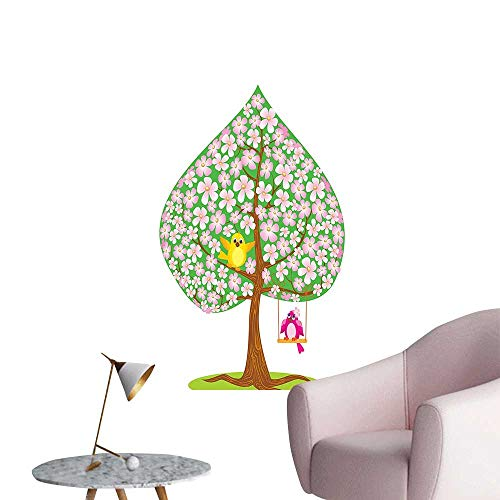 Modern Decor Shape SPR Tree Flowers Bird Love Seas Green Brown Ideal Kids Decor or Adults,28