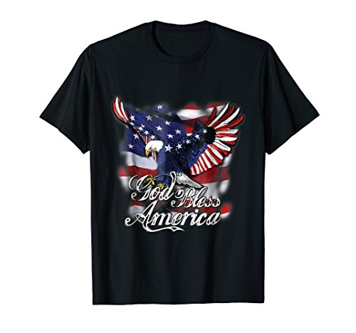God Bless America T-shirt American Eagle Flag Shirt