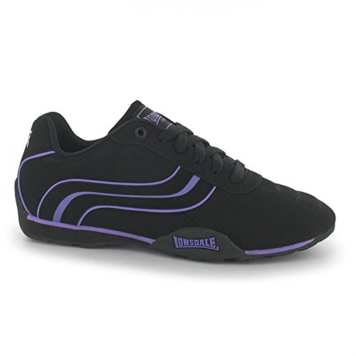 Deportes Mujer Zapatillas Camden negro Guantes Fashion Tiempo Sneaker Libre morado Lonsdale EqXPnSwX