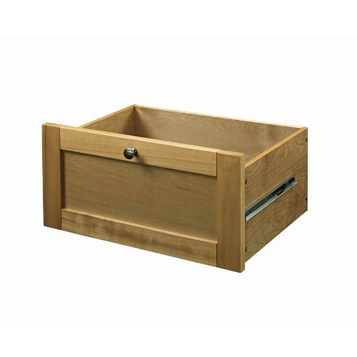 allen + roth Pecan Flat Panel Wood Drawer Kit