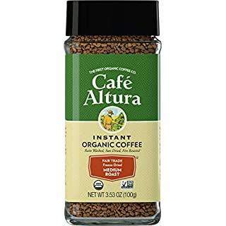 Cafe Altura Freeze Dried Instant Organic Coffee, 3.53 Ounce (Pack of 2), Brown