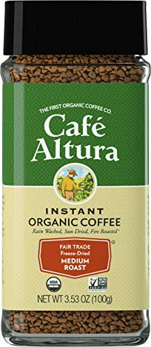 Cafe Altura Freeze Dried Instant Organic Coffee, 3.53 Ounce (Pack of 2) ()