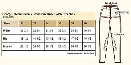 George H Morris GHM Mens Grand Prix Knee Patch Breech
