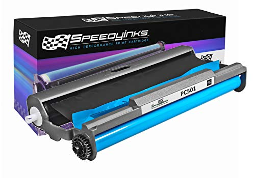 Speedy Inks - PC501 Compatible Fax Cartridge with Roll for use in Brother FAX 575 Fax - Pc501 Compatible Fax Cartridge
