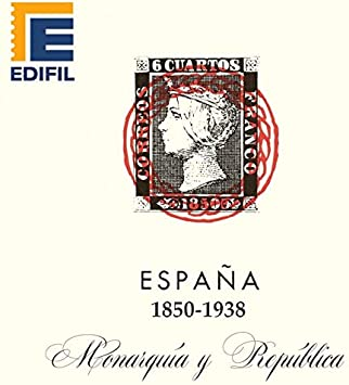 EDIFIL Juego de Hojas Álbum de Sellos de España. Monarquía y República (1850-1938) Papel Blanco Estuches Transparentes: Amazon.es: Juguetes y juegos