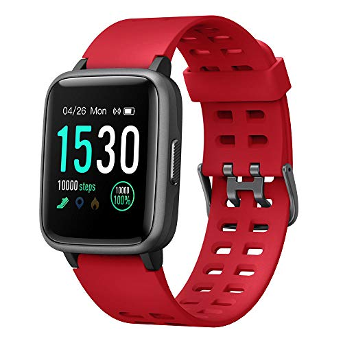Smart Watch for Android iOS Phone 2019 Version IP68 Waterproof,YAMAY Fitness Tracker Watch with Pedometer Heart Rate Monitor Sleep Tracker,Smartwatch Compatible with iPhone Samsung for Men Women Kids (Best Workout Watches 2019)