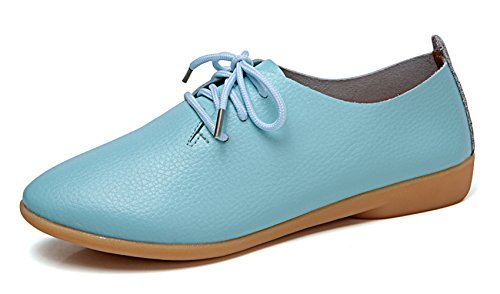 (VenusCelia Women's Sung Oxford Flats Shoe(10.5 B(M) US,Aquamarine))