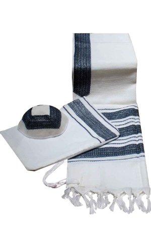 Talitnia Wool Blend Carmel (Herringbone Weave) Tallit Pra...