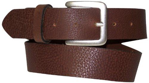 (FRONHOFER genuine leather belt classic, decent buckle antique silver optic 17251, Color:Cognac, Size:waist size 29.5 IN S EU 75 cm)