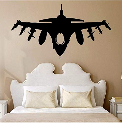LSFHB Fighting Aircraft Wall Stickers Furniture Decorative Wall Stickers 57X90Cm]()