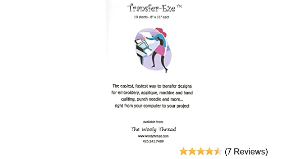 Amazon Transfer Eze Paper For Design Transfer Embroidery